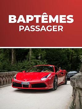 Baptêmes passager Tours Prestige Cars