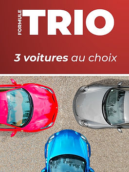 Formule trio 3 voitures Tours Prestige Cars
