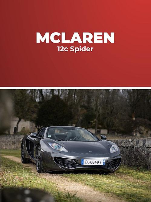 Mclaren 12C Spider • Stage conduite