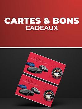 Cartes et bons cadeaux Tours Prestige Cars