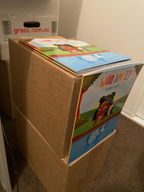 First delivery of books!