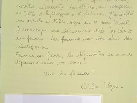 Cecilia Payne vue par les participants des ateliers