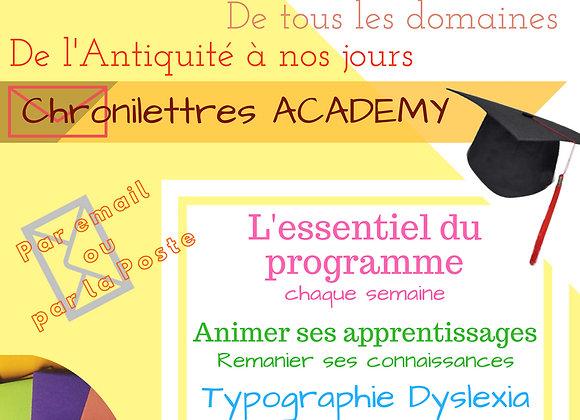 Chronilettres Academy Mail