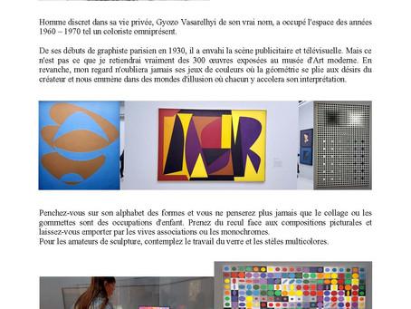 Vasarely au Centre Pompidou Paris, à voir !