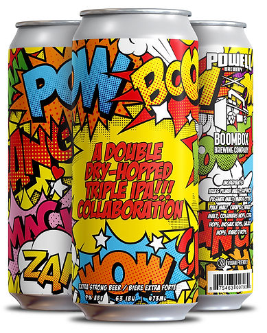 POWELLxBOOMBOX - 4 pack Cans (3 Differen