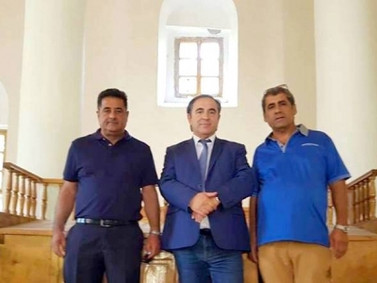 The first group of the European Route of the Jewish Cultural Heritage visited Lailashi