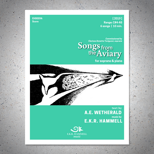 Songs from the Aviary [SCORE]