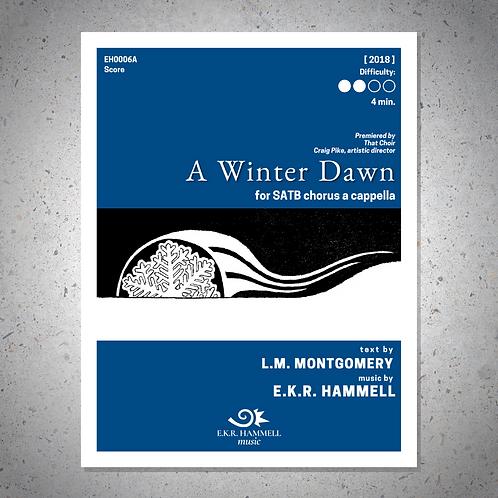 A Winter Dawn (choir version) [SCORE]