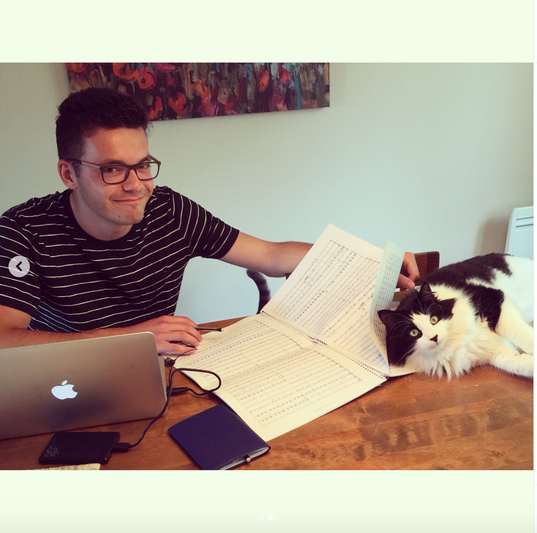 Evan and his editing assistant, Ross. So helpful, Ross! Thanks!!