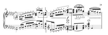 Harp solo rising phrase