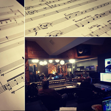 Film Score recording session at Canterbury Music Company
