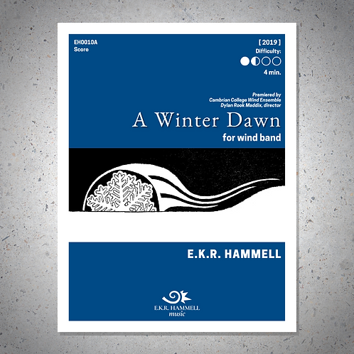 A Winter Dawn (band version) [SCORE]