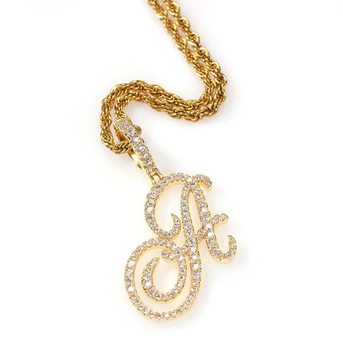 Fancy Initial Necklace