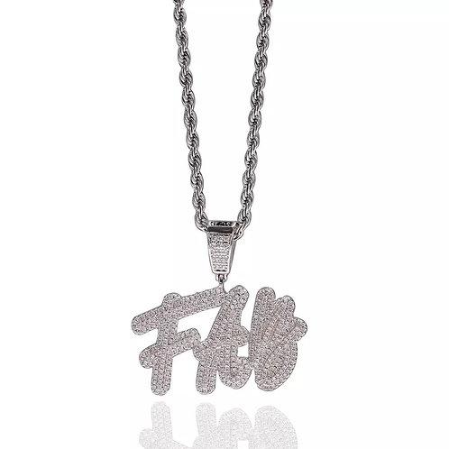 Custom cursive name pendant