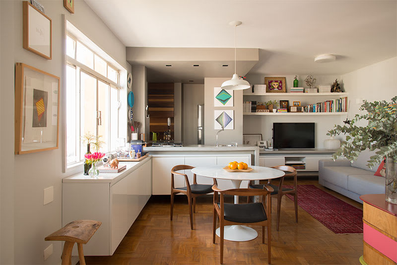 Design afetivo, decoração de apartamento.