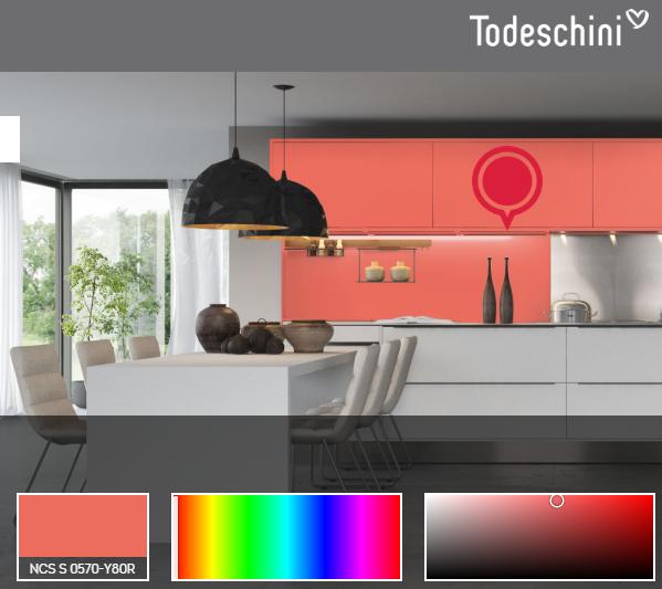 Dispositivo da Todeschini que auxilia a encontrar tonalidades para os móveis planejados. Fonte: Todeschini Oficial