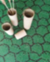 Mosaico de pastilhas verde