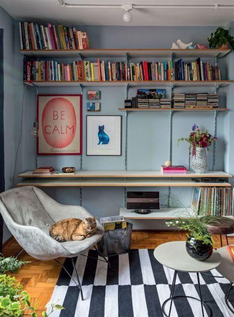 Decoração espaço de leitura