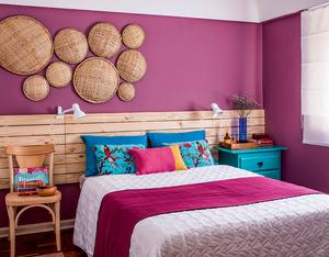 Dormitório de casal colorido
