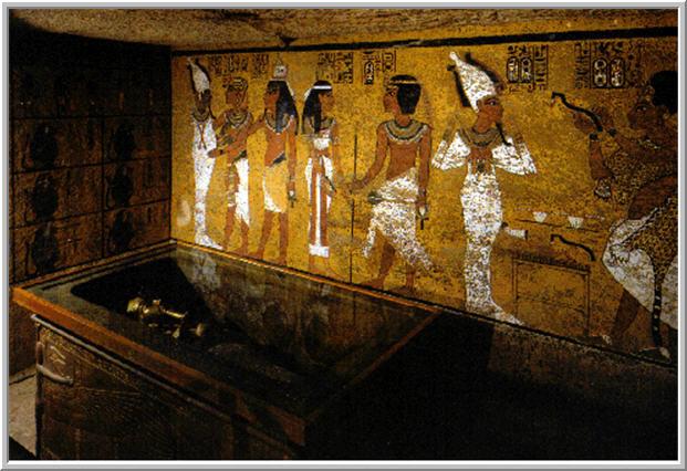Decoração egípcia em tumbas