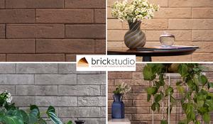 Tijolinhos rústicos em diferentes tonalidades da Brick Studio.