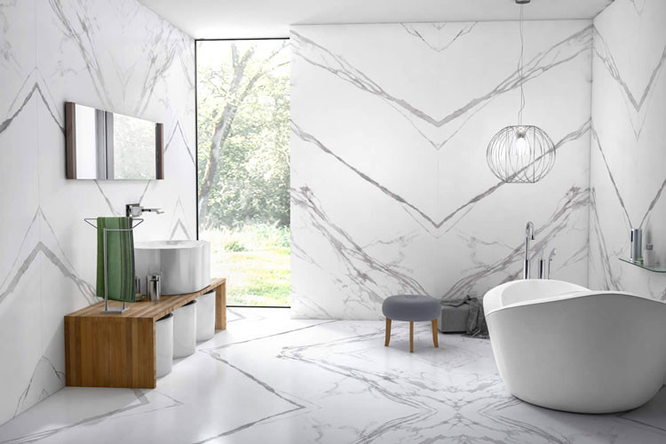 Porcelanato marmorizado
