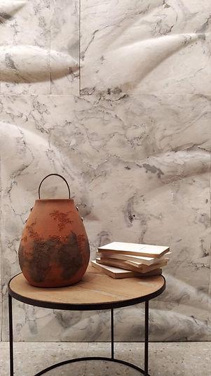 Painel Biofilia - mármore esculpido