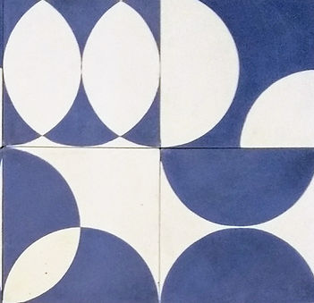 ladrilhos hidráulicos geométricos azuis