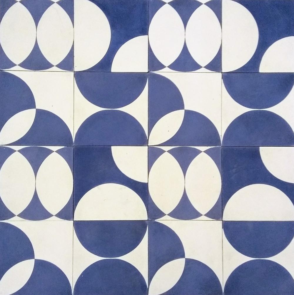 ladrilhos hidráulicos azuis