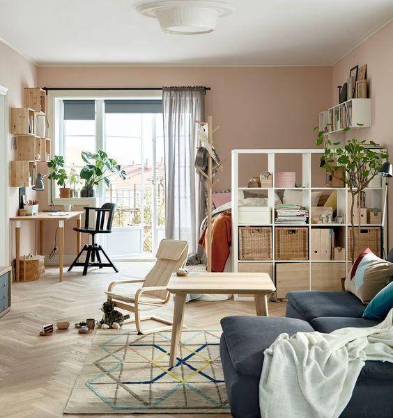 Studio em estilo minimalista