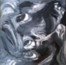 pintura em tela preto e branco