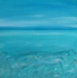 quadro inspirado no céu e mar