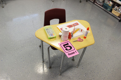 Students will have individual work stations with designated supplies. Supplies will be sanitized daily.