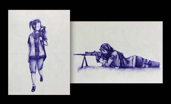 11a_Bystander_9x5 each_ballpoint pen.jpg