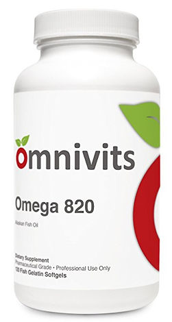 Omega 820 | Concentrated Provide 600-900 mg of EPA and DHA | Omnivits