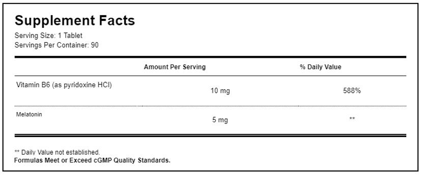 Melatonin CR 5mg Biphasic Controlled Rel