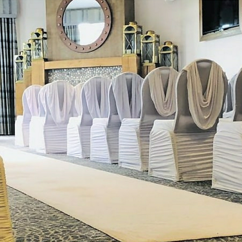 Swag back chair covers