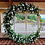 Thumbnail: Gold Eden moongate arch with foliage and ivory roses 2m