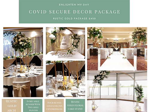 Rustic gold covid package