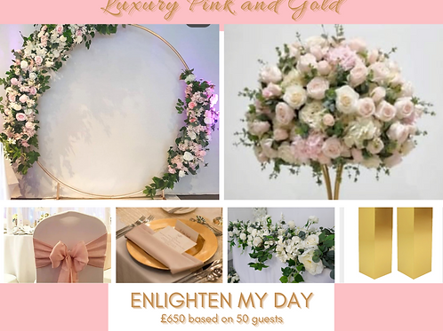 Luxury pink and gold (50 guests)