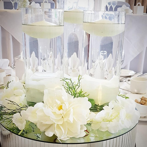 Trio Floating Candle Centrepieces