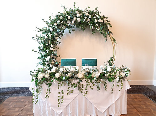 Eden arch with foliage and ivory roses 2m