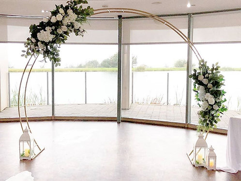 Rustic gold floral arch