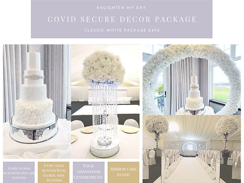 Classic white covid secure package