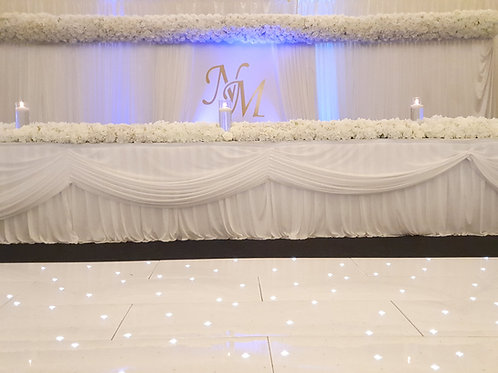 Backdrop with personalised insert without flowers