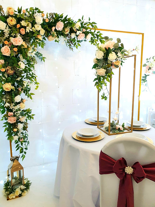 Gold vintage Rose square arch