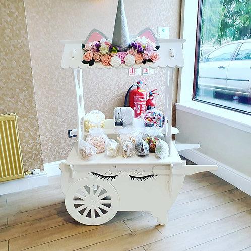 Small unicorn sweet cart