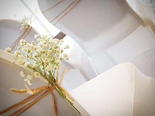 Chair covers with twine and gyp