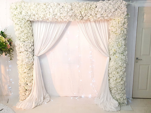 Full floral curtain square arch