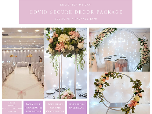 Rustic pink covid secure package